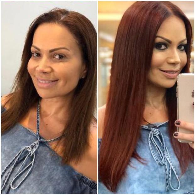 O antes e o depois de Solange Almdeida (Foto: Reprodução/Instagram)