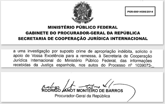 Oficio - MPF - Venda Neymar 2 (Foto: globoesporte.com)