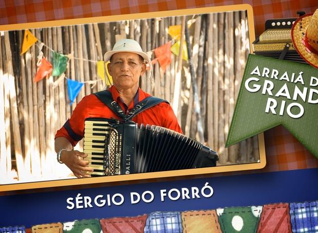Sérgio do Forró é atração do Arraiá do Grande Rio no dia 18 de junho (Foto: Reprodução/TV Grande Rio)