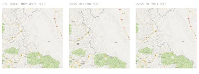 Soberania dos vales é disputada por Índia e China (foto: Reprodução) (Foto: Soberania dos vales é disputada por Índia e China (foto: Reprodução))