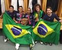 Quinteto brasileiro do PSG celebra conquista da Copa da Liga Francesa