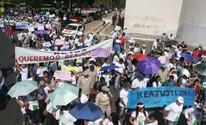 Agentes de saúde protestam contra portarias que extinguem profissão (Catarina Costa/G1)
