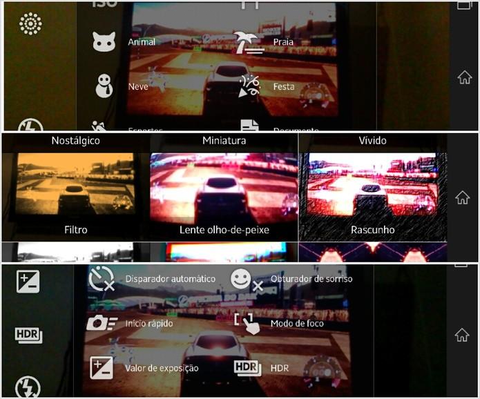 Câmera de 13 megapixels traz inúmeras funções - HDR em fotos e vídeos, modo panorâmico muito bom, filtros próprios e fotos em sequência sem limite do número de capturas. (Foto: TechTudo/Rodrigo Bastos)