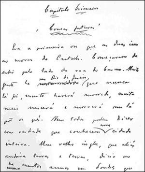 Manuscrito do livro Esaú e Jacó (Foto: Reprodução / Academia Brasileira de Letras)