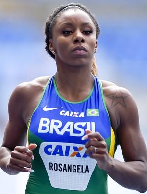 Rosângela Santos na prova dos 100m no evento-teste de atletismo no Engenhão (Foto: Wagner Carmo )