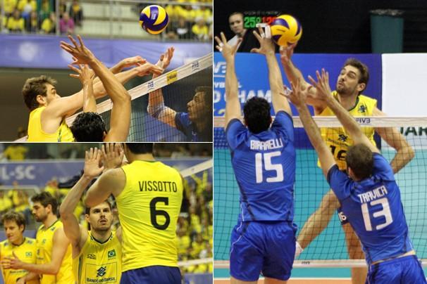 No jogo de estreia, na sexta, dia 23, a Itália venceu o Brasil por 3 sets a 1 (Foto: Divulgação FIVB)