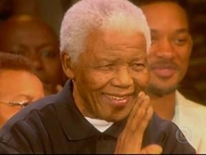 Nelson Mandela (Foto: TV Globo)