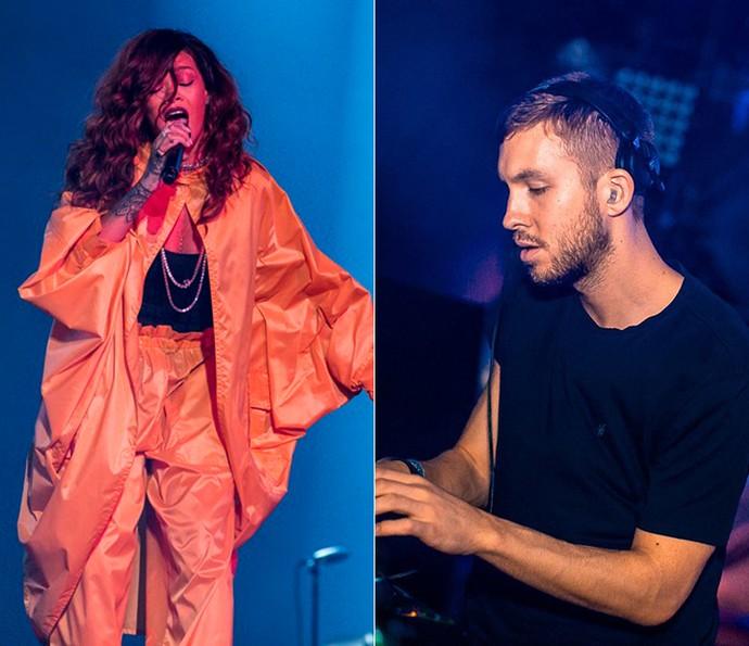 Rihanna e Calvin Harris lançam nova música juntos (Foto: Felipe Monteiro/ Gshow e Divulgação )