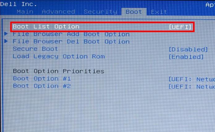 Mude a visualização de dispositivos de boot (Foto: Reprodução/Paulo Alves)