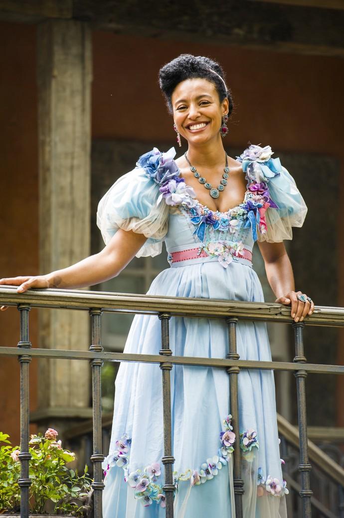 Sheron Menezzes interpreta Diara em 'Novo Mundo', que será conhecida também como a Baronesa de Paciência (Foto: Globo/ João Miguel Júnior)
