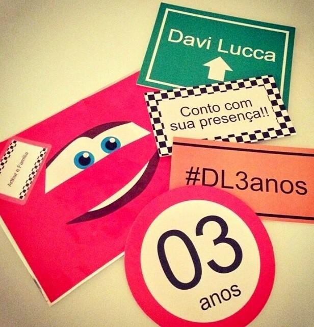 Convite de aniversário de Davi Lucca (Foto: Divulgação)