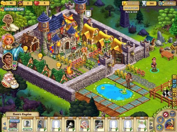 'Castle Ville', jogo da Zynga que será encerrado. (Foto: Divulgação/Zynga)