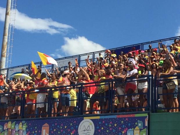 Apuração do desfile foi na tarde desta segunda-feira (27) (Foto: Edivaldo Dondossola/RBS TV)