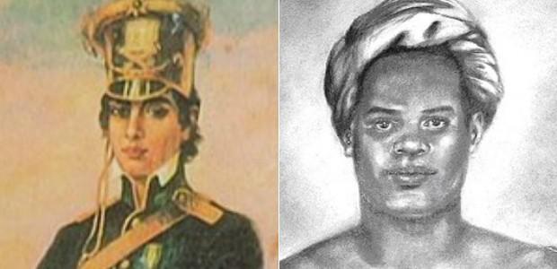 Mulheres tiveram destaque nas lutas pela independência na Bahia   (Arte G1)