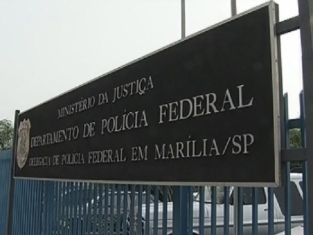 Polícia Federal de Marília investiga o caso  (Foto: Reprodução TV Tem)
