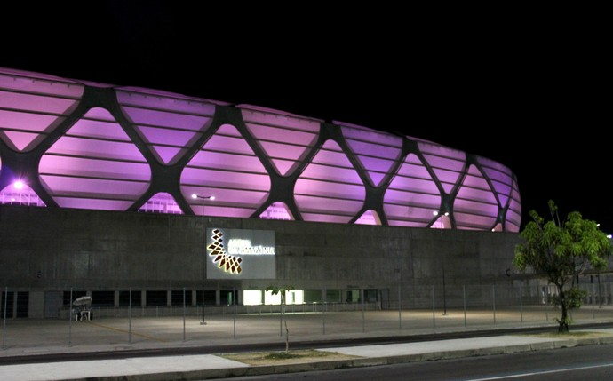 Arena Amazônia rosa (Foto: Jamile Alves)