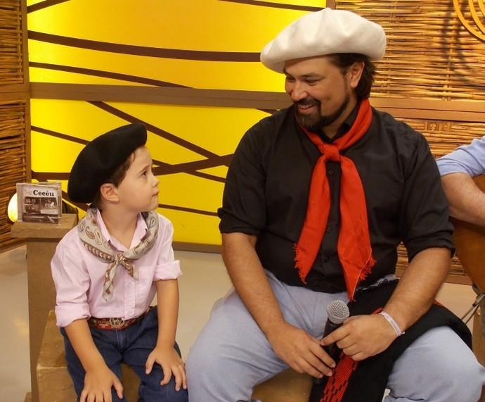 Galpão Crioulo Marcelo Oliveira e filho (Foto: Andrielle Santos/Divulgação)