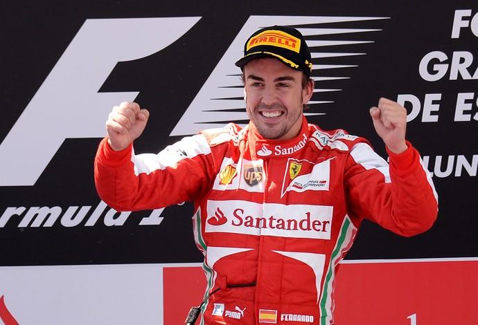 fernando alonso podio formula 1 gp espanha (Foto: AFP)