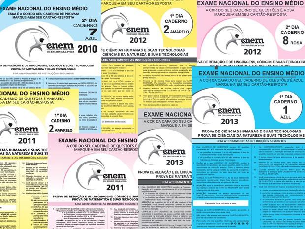 Provas anteriores do Enem (Foto: Reprodução/Inep)