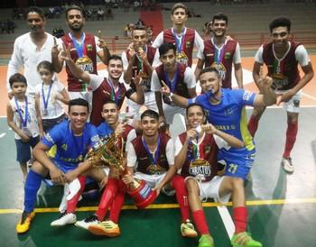 Palmeiras B campeão acreano de futsal sub-20 (Foto: Divulgação/Fafs)