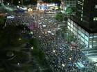 Manifestantes fazem ato no Centro do Rio contra impeachment de Dilma