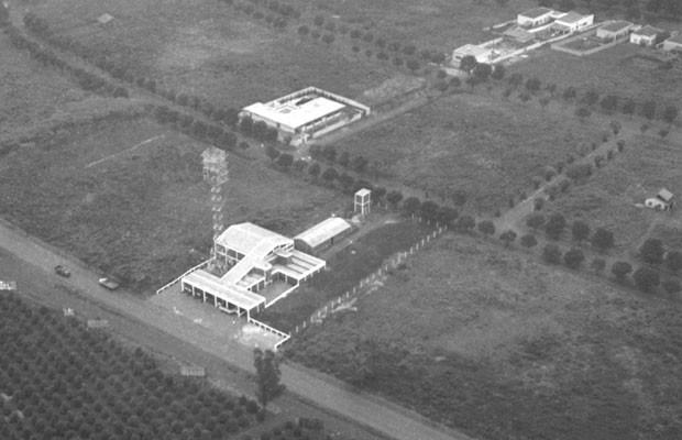 Imagem mostra as instalações da TV Coroados, atual RPC TV Londrina, em 1963 (Foto: José Kalkbrenner)