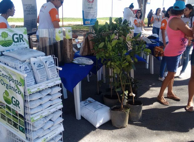 Stand de sustentabilidade realizado no último sábado de evento (Foto: André Dias/Inter TV)