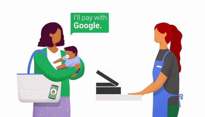 Google Hands Free permite que usuário façam compras sem tocar no celular ou cartão (Foto: Divulgação/Google)
