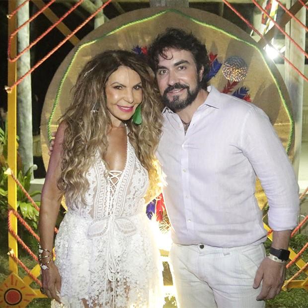 Elba Ramalho e Padre Fabio de Melo (Foto: Fred Pontes/ Divulgação)