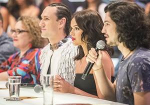 Regina Navarro, Dudu Bertholini, Bruna Marquezine e Gabriel Leone vão estar no próximo programa (Foto: Globo/Renato Rocha Miranda)