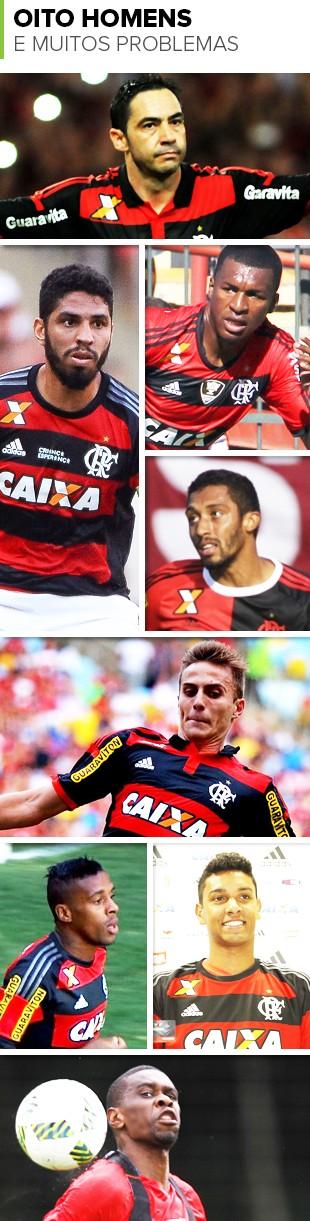 Mosaico-Zagueiros-Flamengo (Foto: infoesporte)