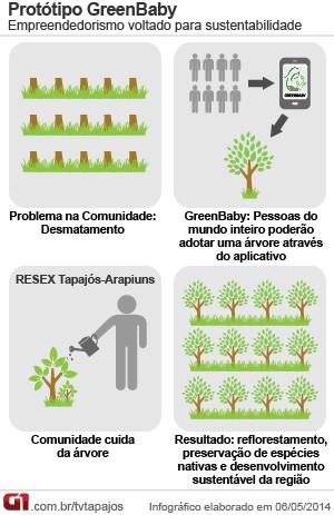 Infográfico Aplicativo Greenbaby (Foto: Andressa Azevedo/G1)