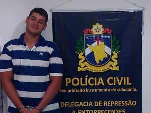 Endson Silva de Oliveira, 21 anos, foi preso nesta quarta-feira  (Foto: Divulgação/ DRE)