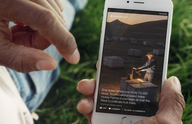 Ferramenta do Facebook para veículos de mídia criarem conteúdos interativos diretamente na rede social. (Foto: Divulgação/Facebook)