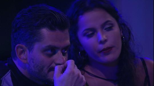 Emilly e Marcos conversam e sister revela: 'Dan queria pôr o Mamão no Paredão'