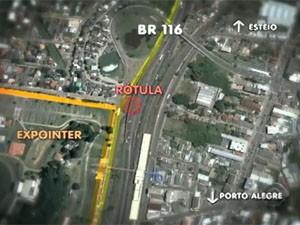Trânsito para a Expointer (Foto: Reprodução/RBS TV)