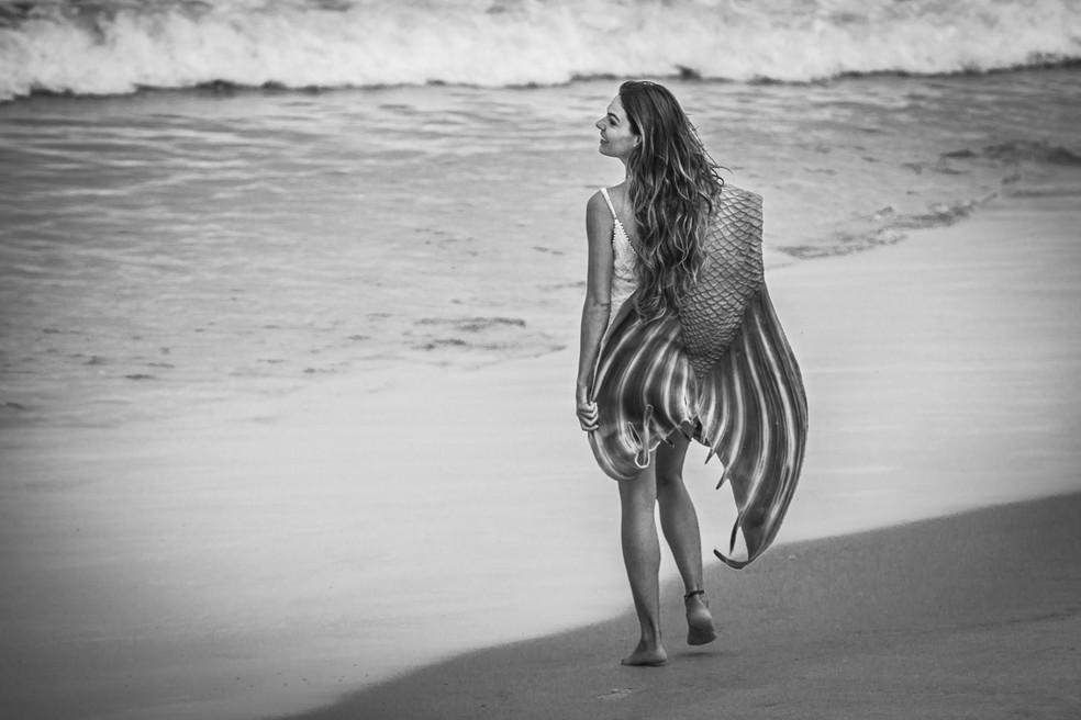 Nada como uma água salgada para acalmar o espírito (Foto: Fábio Rocha/Gshow)