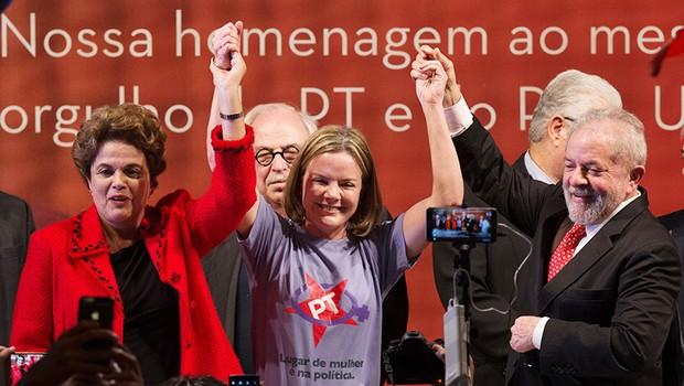 posse-lula-dilma-gleisi-hoffmann (Foto: Lula Marques/Agência PT)
