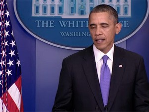 O presidente dos EUA, Barack Obama, fala na Casa Branca nesta quarta-feira (16) (Foto: Reprodução)