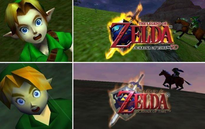 Legend of Zelda Ocarina of Time e o seu remake em 3D (Foto  Reprodução adefa39b2c0