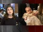 Bebê real é batizado em Londres