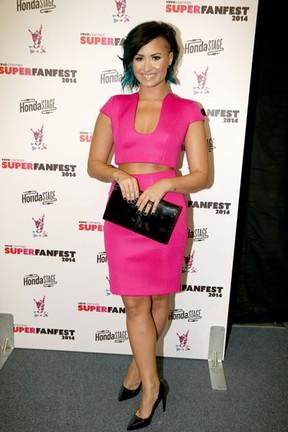Demi Lovato em evento em Los Angeles, nos Estados Unidos (Foto: Christopher Polk/ Getty Images/ AFP)
