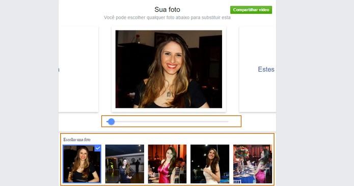 Inicie a edição de cada foto do vídeo Dia do Amigo pelo Facebook (Foto: Reprodução/Barbara Mannara)
