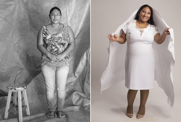 """""""Hoje estou vivendo do meu jeito, com alegria"""", diz a costureira Ruth Orozco (Foto: Fernanda Rodrigues e Paola Vianna)"""