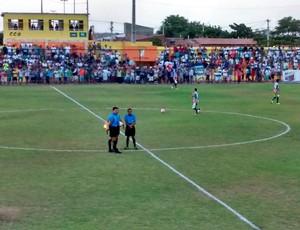 Baraúnas x Globo FC, no Estádio Walter Bichão, em Macau (Foto: Zenóbio Oliveira/Inter TV Cabugi)