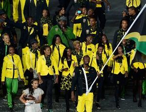Usain Bolt, Deleção da Jamaica (Foto: Agência Reuters)