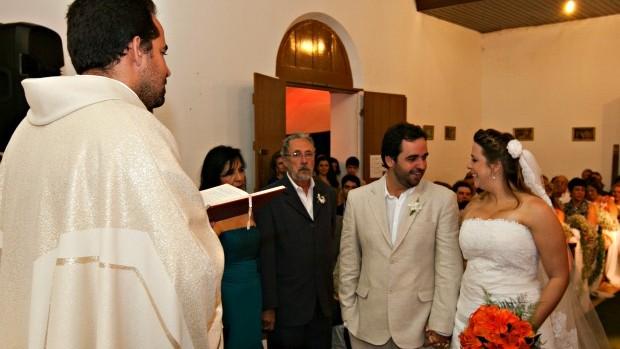 Cerimônia de casamento de Jaime e Patrícia aconteceu em Pernambuco (Foto: Arquivo Pessoal)