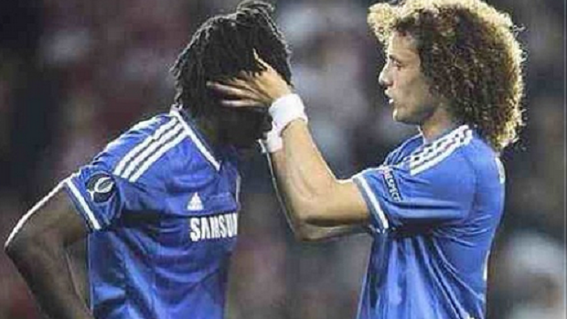 David Luiz e Lukaku, do Chelsea, após a final da Supercopa da Europa (Foto: Reprodução / Instagram)
