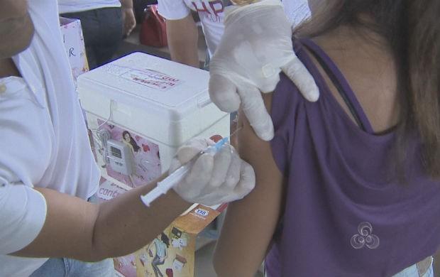 Campanha de vacinação contra o HPV (Foto: Reprodução/TV Amapá)