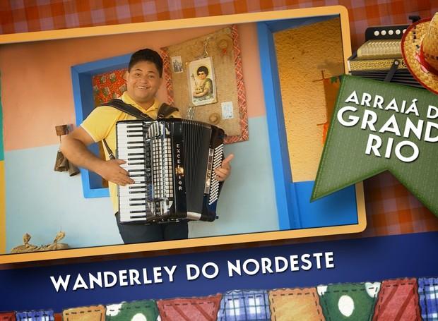 Wanderley do Nordeste é atração no Arraiá do Grande Rio no dia 19 de junho (Foto: Reprodução/TV Grande Rio)